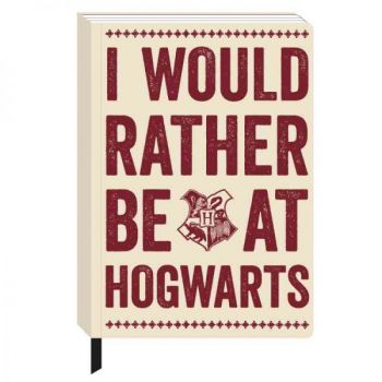 Harry Potter - A5 Notizbuch - I would rather be at Hogwarts