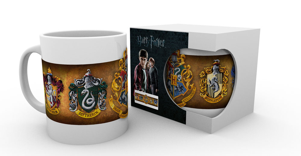 sieben k nigslande harry potter tasse h user hogwarts. Black Bedroom Furniture Sets. Home Design Ideas