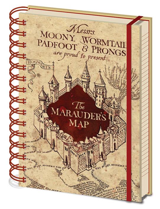 Karte Des Rumtreibers.Sieben Königslande Harry Potter Notizbuch A5 Karte Des