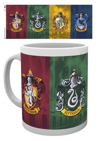 sieben k nigslande harry potter tasse wappen aller h user. Black Bedroom Furniture Sets. Home Design Ideas