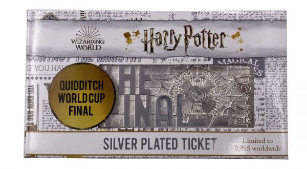 Harry Potter - Quidditch World Cup Ticket (versilbert) - Limited Edition