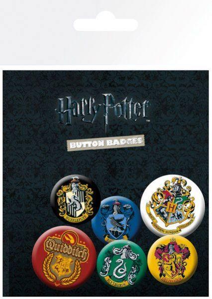 sieben k nigslande harry potter ansteck buttons hogwarts h user wappen. Black Bedroom Furniture Sets. Home Design Ideas