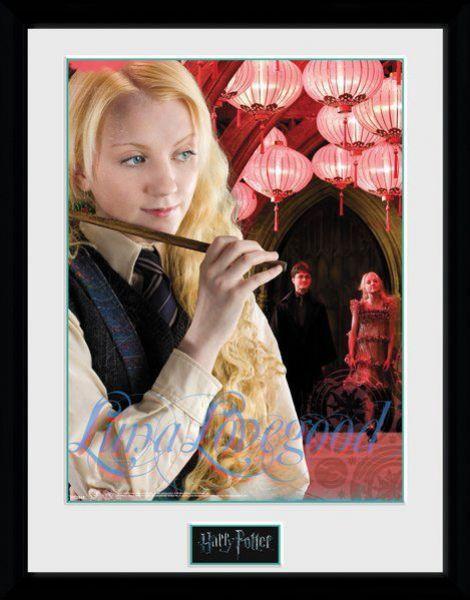 sieben k nigslande harry potter poster im rahmen luna lovegood 45 x 34 cm. Black Bedroom Furniture Sets. Home Design Ideas